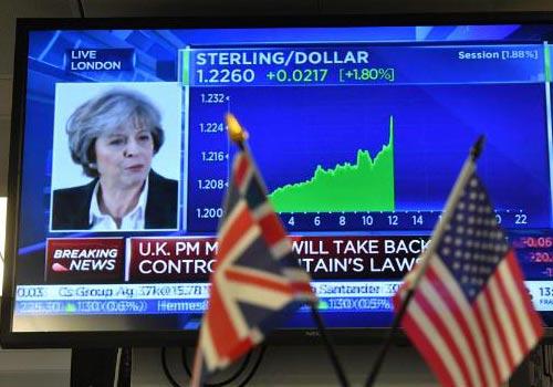 """英拟""""硬脱欧""""退单一市场 冀与欧盟签自贸协定"""