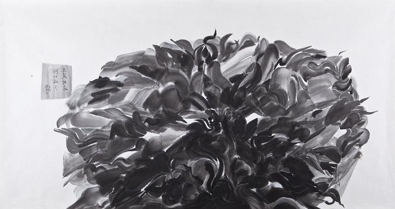 作品名称:《冯翼惟像  何以识之》-纸本水墨-180x97cm-2013年