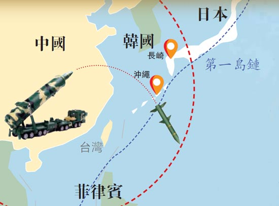 """火箭军东风-16覆盖""""第一岛链"""" 精度五米"""