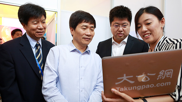 北京市委常委、宣传部长杜飞进到访大公网访谈间