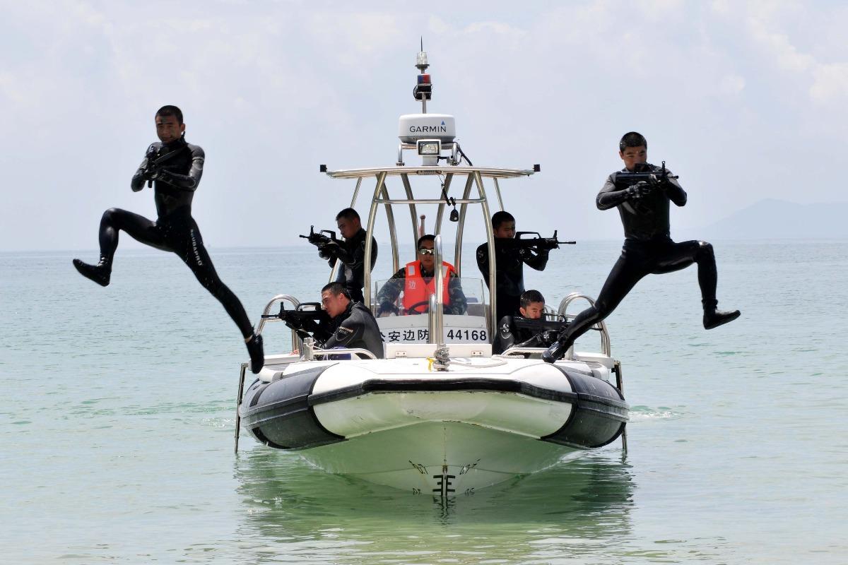 探访中国首支公安边防蛙人部队 水陆两栖守护粤港边界图片