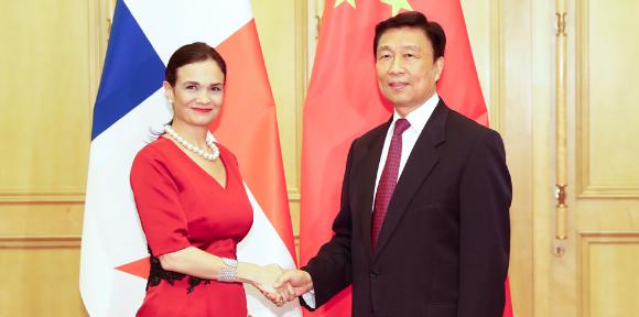 李源潮会晤巴拿马副总统:一中原则是国际共识