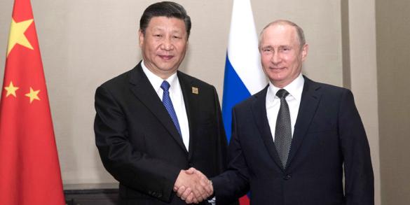 """习近平会见普京 中俄重申反对在韩部署""""萨德"""""""