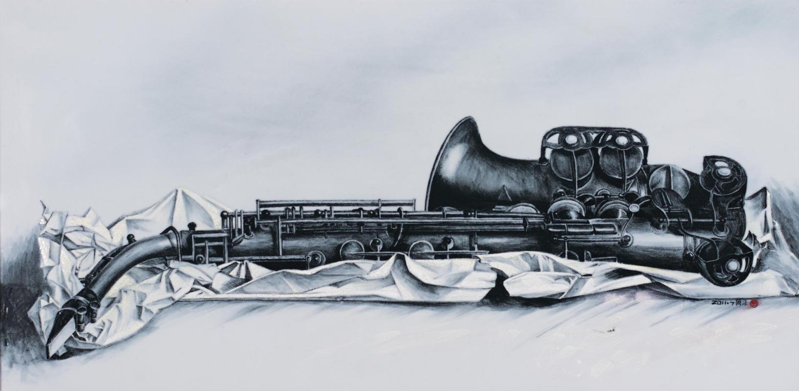 又结合了中国传统人物画的线条魅力,使其釉下五彩作品富有视觉冲击力
