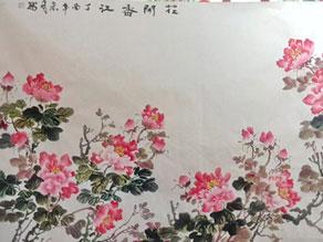 """學子與畫師同繪""""花開香江""""紀念港迴歸"""