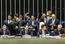 巴西众议院全会就总统特梅尔受贿案投票