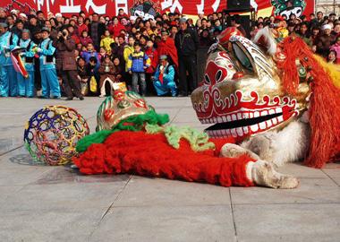 河南回族文狮舞 除恶扬善七百年