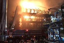 中石油大連石化公司發生火災