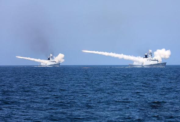 解放军三大舰队黄渤海演习 海军将领一线参演