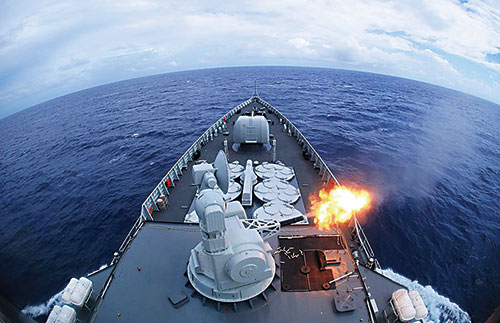 中国舰队印度洋火力全开 实现大洋练兵向打仗聚焦