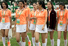 天津全运会上的志愿者