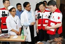 中国红十字在孟加拉国调研