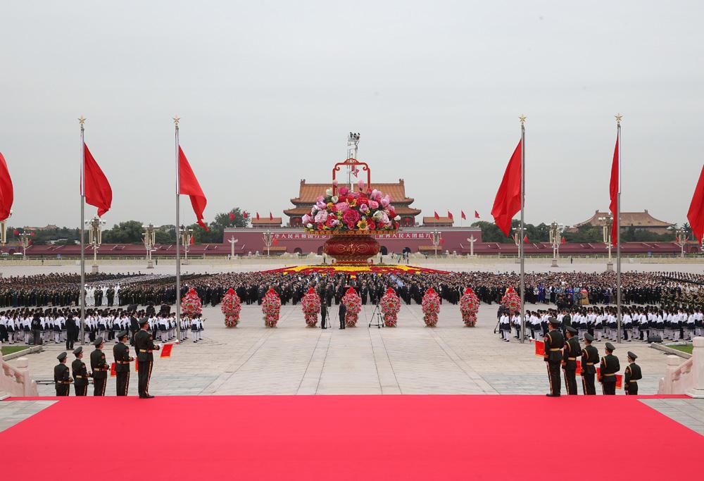图:2014年9月30日上午,党和国家领导人习近平、李克强、张德江、图片