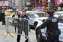 紐約時報廣場加強安保措施