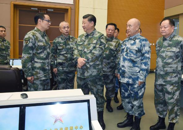 习近平察看视频联指中心军委视察驻吉布提保视频假装在国外图片
