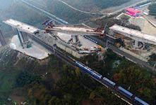 漢十高鐵三墩轉體橋精準對接