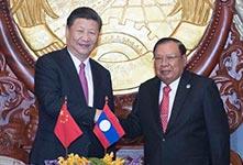 习近平访问老挝
