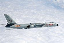 中國空軍多架轟-6K戰機南海巡航