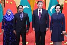 习近平同马尔代夫总统举行会谈