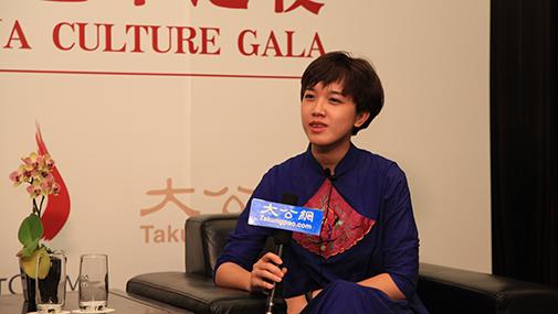 李韵接受大公网专访
