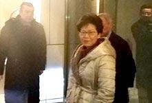 林鄭月娥抵京述職