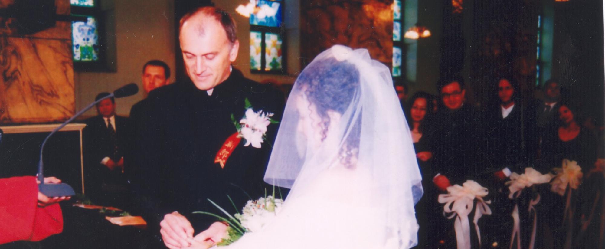 北京南堂教友举行婚配礼