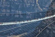河北一488米长玻璃桥正式开放
