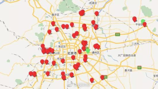 ▲北京共有產權房項目分佈圖(圖片來源:北京市住建委)