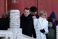法國總統馬克龍偕夫人參觀故宮