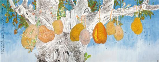 中国当代菠萝蜜画家王旭升作品欣赏