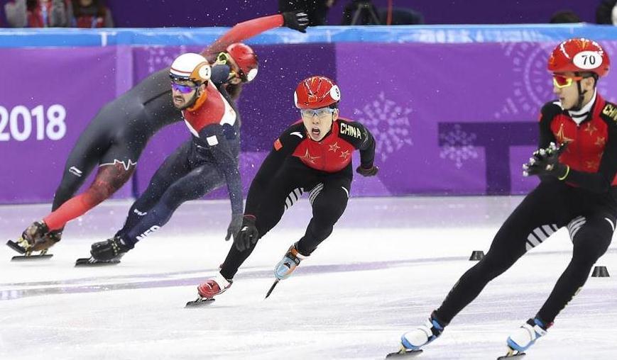 短道速滑男子5000米接力:中国队晋级决赛
