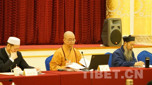 两会现场:宗教界的全国政协委员齐聚小组会 审议常委会报告