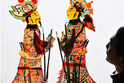 黄河岸边的民间艺术——罗山皮影戏