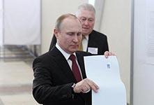普京得票率在总统选举中领先