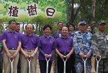 2400军民大棠植树 同心为环保