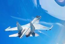 中國空軍遠洋訓練戰巡南海