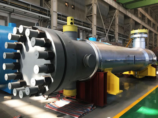 哈尔滨锅炉厂有限责任公司生产制造的伊朗马苏锅炉给水加热器,是同