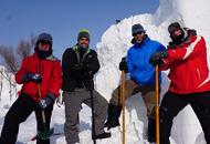 国际雪雕比赛开铲17国雪雕大师冰城斗技
