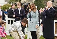 特朗普携家人出席复活节活动