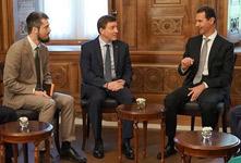 敍總統阿薩德會見俄執政黨代表團