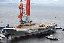 """首艘国产航母疑进行""""倾斜试验"""""""