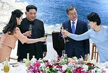 文在寅设晚宴欢迎金正恩夫妇