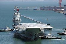 国产航母完成首次海试返回码头