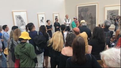 关玉良艺术走进法国国会艺术中心